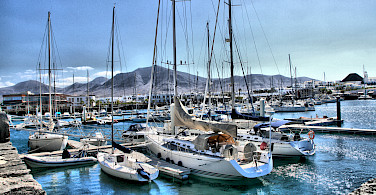 Boats at the Rubicon Marina in Playa Blanca, Lanzarote, Canary Islands. Photo via Flickr:IDS.photos