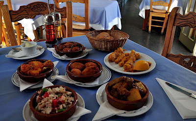 Some tapas for lunch on Lanzarote, Canary Islands. Photo via Flickr:Adam Wyles