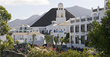 White architecture abounds on the island. Playa Blanca, Lanzarote, Canary Islands. Photo via Flickr:IDS.photos