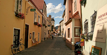 Shopping street in Durnstein, Austria. Photo via Flickr:jay8085