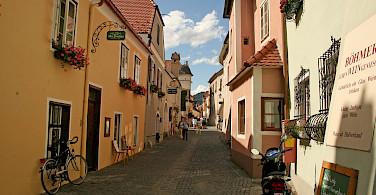 Shopping street in Durnstein, Austria. Photo via Flickr:jay8085