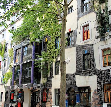 Vienna's famous 'Hundertwasserhaus'. Photo via Flickr:Michela Simoncini