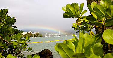 Rainbow over Hilo Bay, Hawaii. Photo via Flickr:David Fulmer