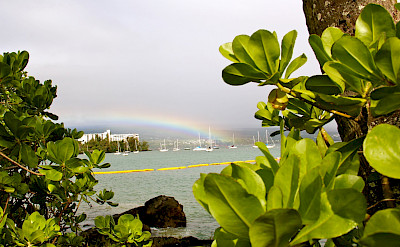 Rainbow over Hilo Bay, Hawaii. Photo via Flickr:David Fulmer