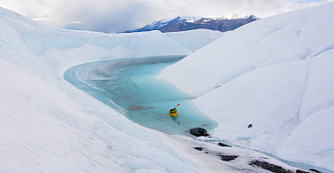 Packrafting on Matanuska Glacier, Alaska. Photo via Flickr:Paxson Woelber