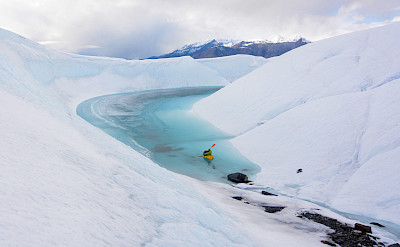 Packrafting on Matanuska Glacier, Alaska. Photo via Flickr:Paxson Woelber