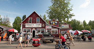 Downtown in Talkeetna, Matanuska-Susitna Borough, Alaska. Photo via Flickr:Sandy Brown Jensen