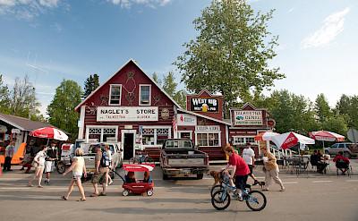 Downtown in Talkeetna, Matanuska-Susitna Borough, Alaska. Photo via Flickr:Sandy Brown Jensen
