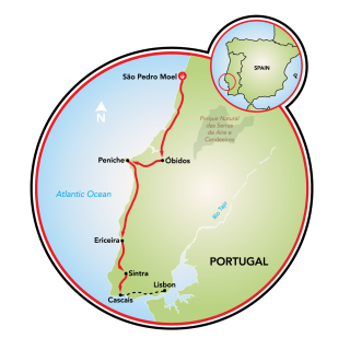Costa do Atlântico e Sintra Map