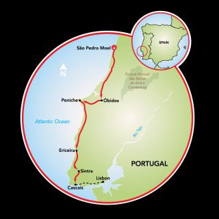 Atlantic West Coast & Sintra Map