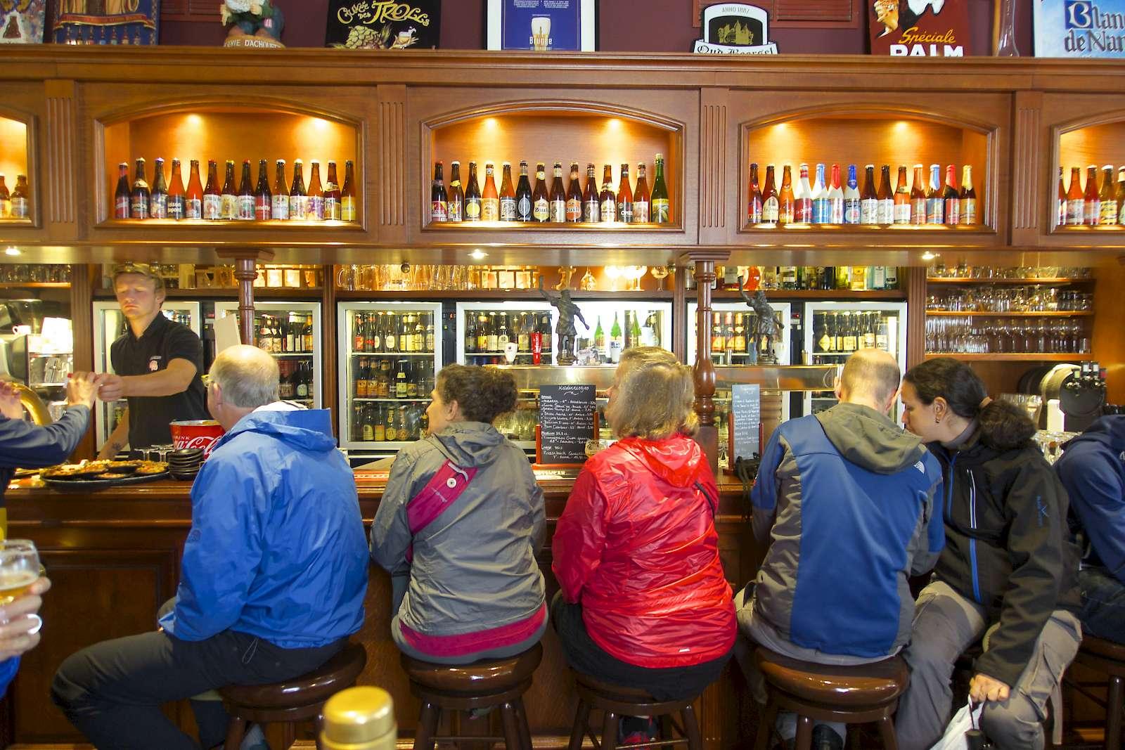 Sampling Belgian beers