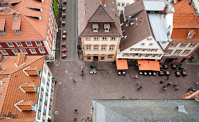Looking down a street in Heidelberg, Germany. Photo via Flickr:HDValentin