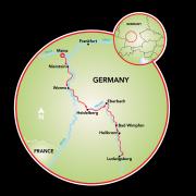 Mainz to Ludwigsburg Map