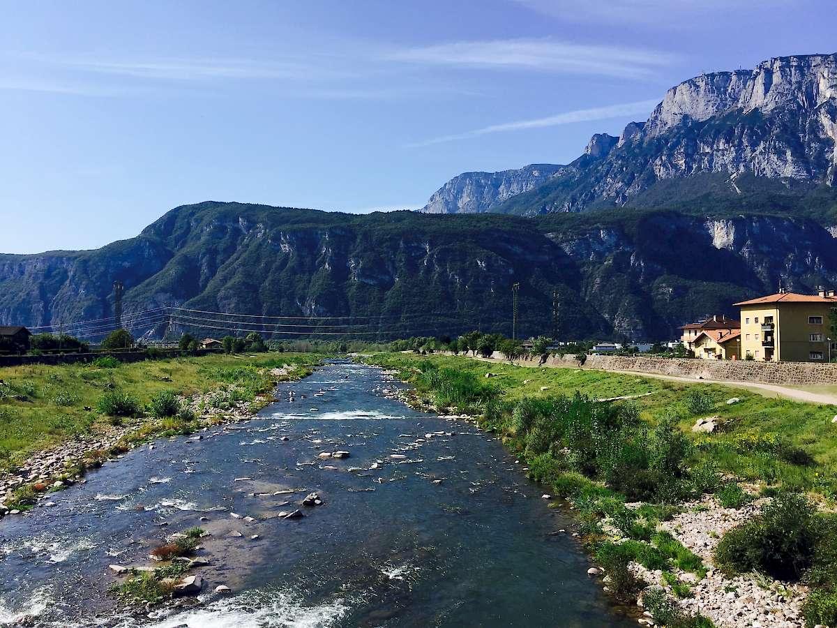 Adige en route to trento