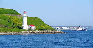 Georges Island Lighthouse in Nova Scotia, Canada. Photo via Flickr:Dennis Jarvis