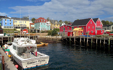 Lunenburg in Mahone Bay, Nova Scotia, Canada. Photo via Flickr:Andrea Vail