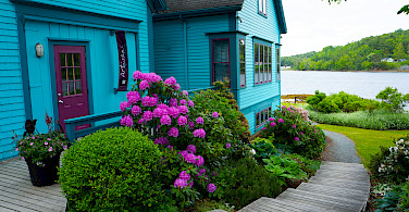 Colorful houses in Mahone Bay, Nova Scotia, Canada. Photo via Flickr:Nicole Bratt