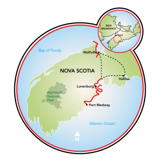 Nova Scotia's South Shore Map