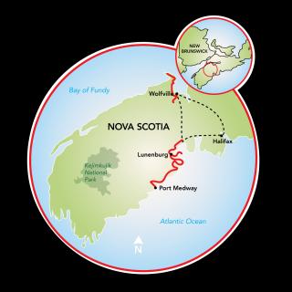 Nueva Escocia- Costa del Sur Map