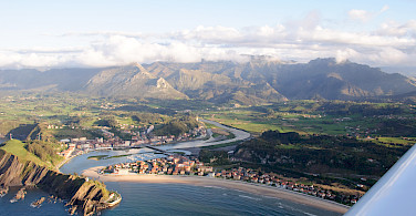 Aerial of Ribadesella on the Cantabrian Sea, Asturias, Spain. Photo via Flickr:AsturZephyra