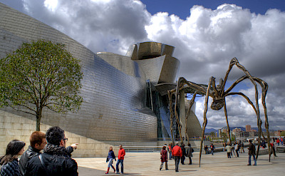 Guggenheim in Bilbao, Spain. Photo via Flickr:Vicente Villamon