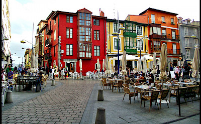 Plaza in Santona, Cantabria, Spain. Photo via Flickr:alma-81