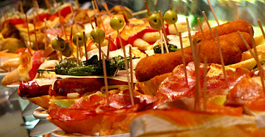Spain is known for its great tapas! Wikimedia Commons:Elemaki