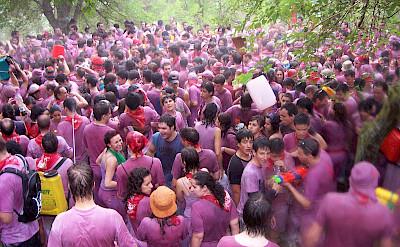 Battle of Wine in Haro, La Rioja, Spain. Wikimedia Commons:BigSus