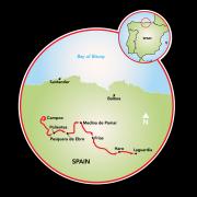 Along the Ebro River to La Rioja Map