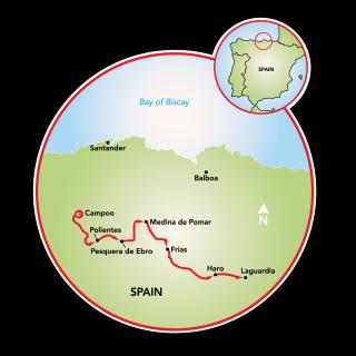 La Rioja - Land of Wine Map