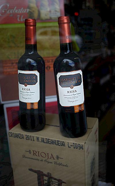Local, delicious Marques de Aldeanueva wine, La Rioja, Spain. Flickr:Nacho