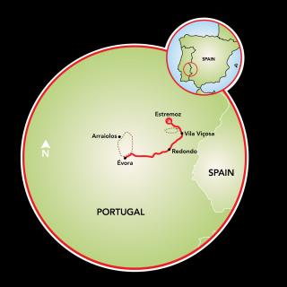 Viñedos de Alentejo Map