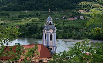 Another view of <i>Stift Dürnstein</i> in Dürnstein, Austria. Flickr:jay8085