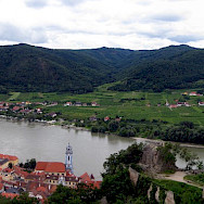 Panorama of Wachau Valley including Durnstein, Lower Austria. Photo via Wikimedia Commons:Lonezor