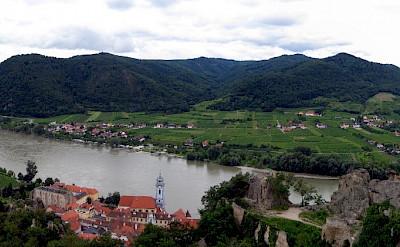 Panorama of Wachau Valley including Dürnstein, Lower Austria. CC:Lonezor