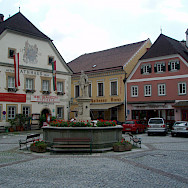 Main square in Grein, Austria. Photo via Flickr:Stefan M