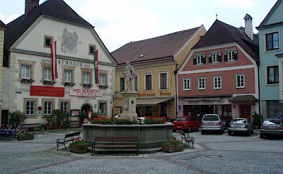 Main square in Grein, Austria. Flickr:Stefan M