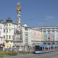 Hauptplatz in Linz, Austria. Photo via Wikimedia Commons:Tokfo