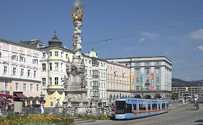 Hauptplatz in Linz, Austria. CC:Tokfo