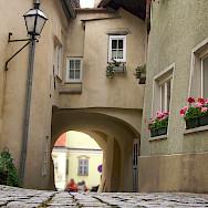Cobblestone streets in Krems, Austria. Photo via Flickr:Mikel Ortega