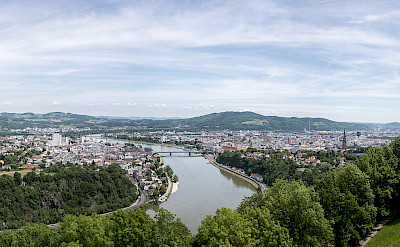 The Danube through Linz, Austria. CC:Thomas Ledl