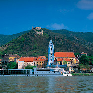 Castle in Dürnstein, in the Wachau Valley and Krems-Land district of Lower Austria. Photo via Donau Touristik