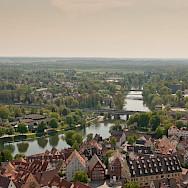 The Danube winding through Ulm in Baden-Wurttemberg, Germany. Photo via Flickr LenDog64