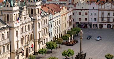 Pardubice's famous square in the Czech Republic. Photo via Flickr:Peter Chovanec