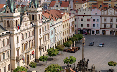 Pardubice's famous square along the Elbe River in the Czech Republic. Flickr:Peter Chovanec