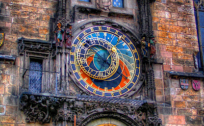 Astronomical Clock in the Old Town Square in Prague, Czech Republic. Flickr:Traveltipy