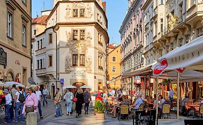 Cafe in Prague, Czech Republic. Flickr:Pedro Szekely
