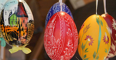 Easter eggs in Prague, Czech Republic. Photo via Flickr:Liz Jones