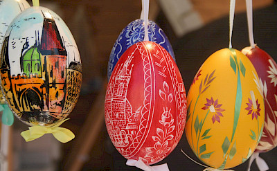 Easter eggs at Easter-time in Prague, Czech Republic. Flickr:Liz Jones