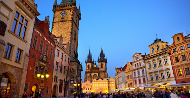 Old Town Square in the Czech Republic. Photo via Flickr:Moyan Brenn